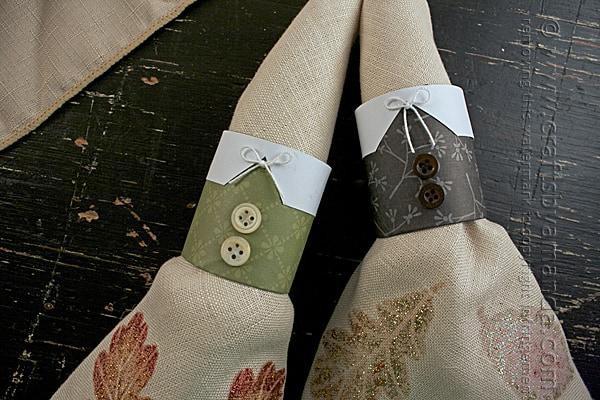 10. Pilgrim Thanksgiving Napkin Rings DIY