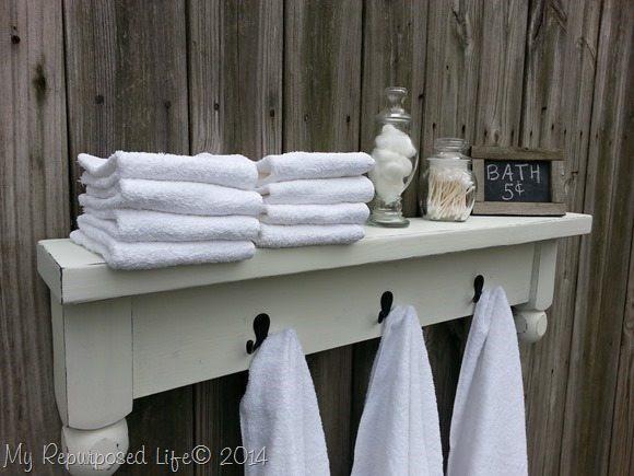 10. Table Shelf Towel Rack DIY