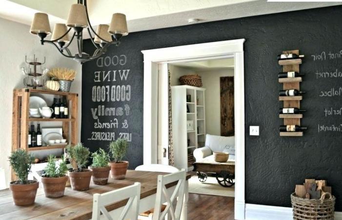10. Wine Rack Wall Decor