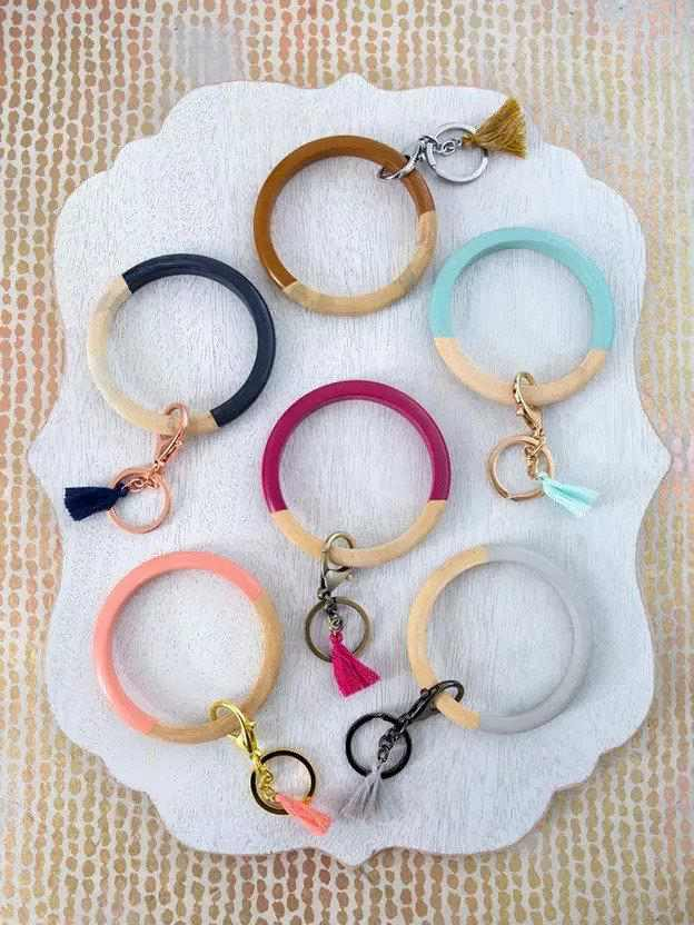 11. DIY Bangle Keychain Bracelets