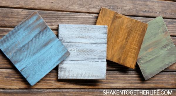 11. DIY Painted Wooden Coasters
