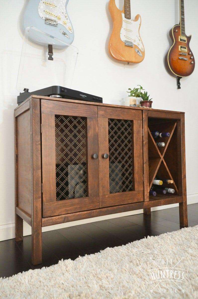 11. DIY Sideboard With Wine Storage