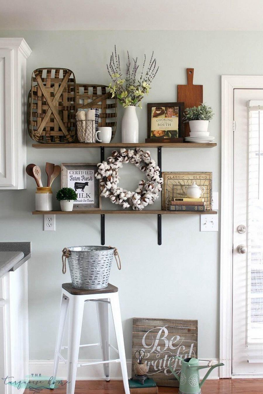 11. Floating Kitchen Shelf Makeover