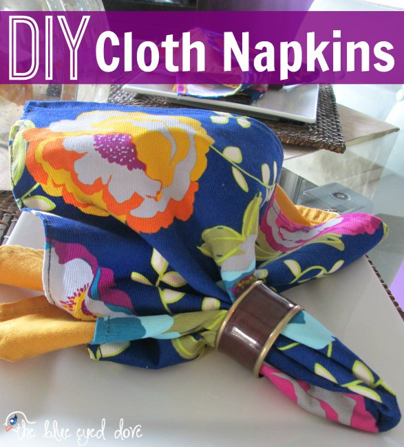 11. Floral Cloth Napkins