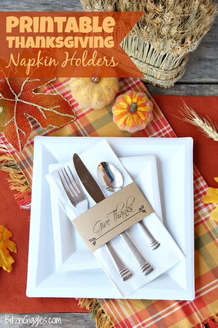 11. Thanksgiving Napkin Rings DIY