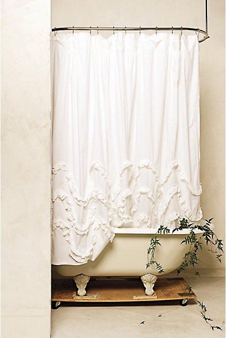 11. Wavy Ruffle DIY Shower Curtain