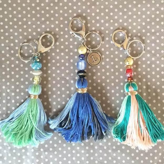 12. DIY Tassel Keychain