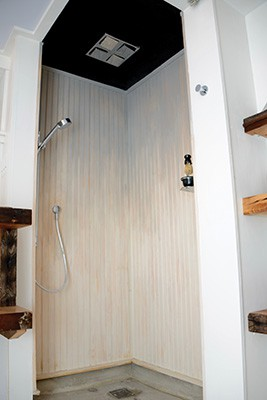 12. DIY Wooden Shower Wall Panel