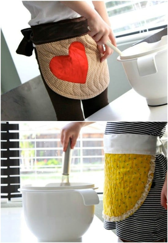 12. Placemats Transformed To Aprons
