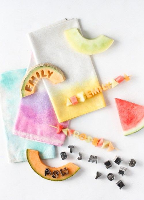 12. Watercolor Cloth Napkins DIY