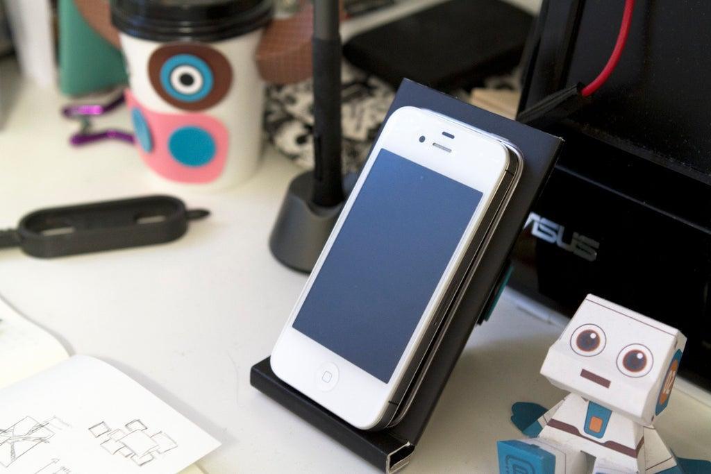 12. iPhone Desk Stand DIY