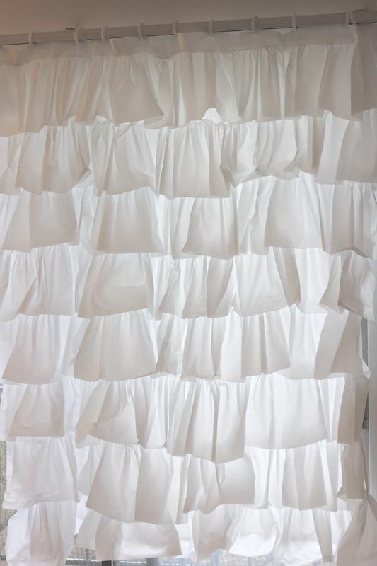 13. Anthro Inspired Ruffle Shower Curtain DIY