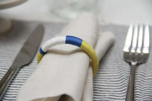 13. Colorblock DIY Napkin Rings