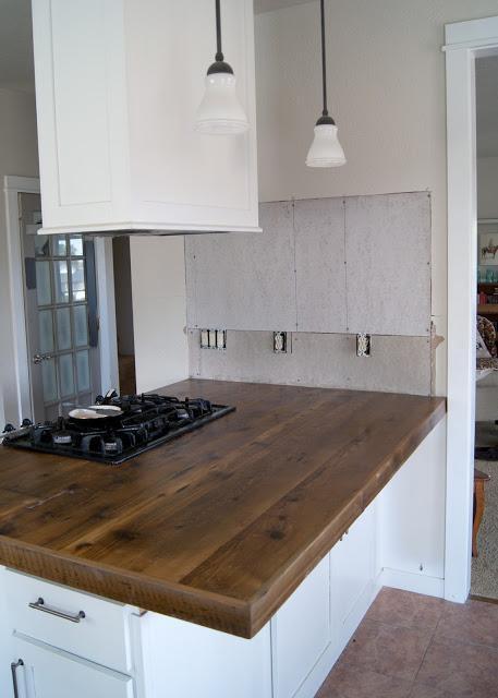 13. DIY Reclaimed Wood Countertop