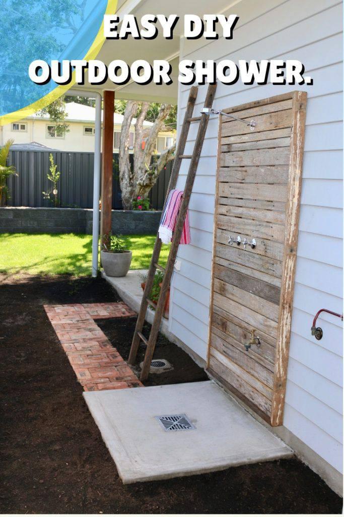 13. DIY Reclaimed Wood Outdoor Shower