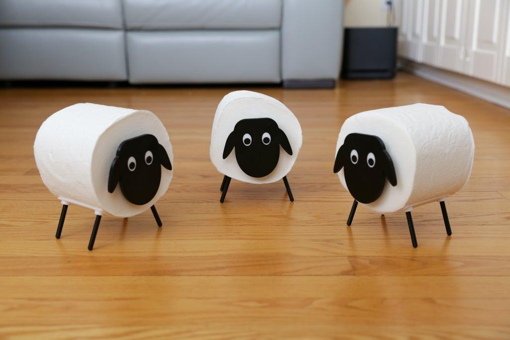 13. DIY Toilet Paper Sheep