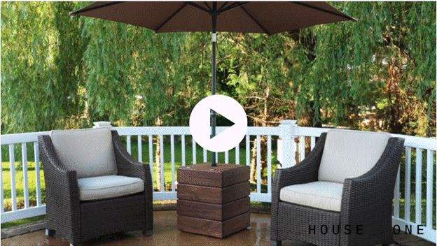 13. How To Build An Umbrella Stand Side Table