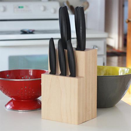 13. Simple Knife Block Idea DIY