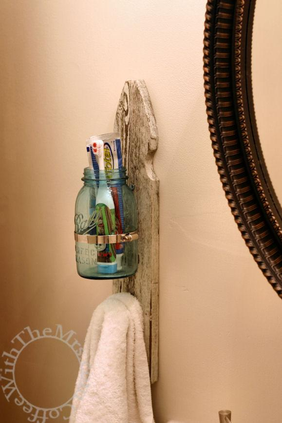 13. Toothbrush And Towel Holder DIY