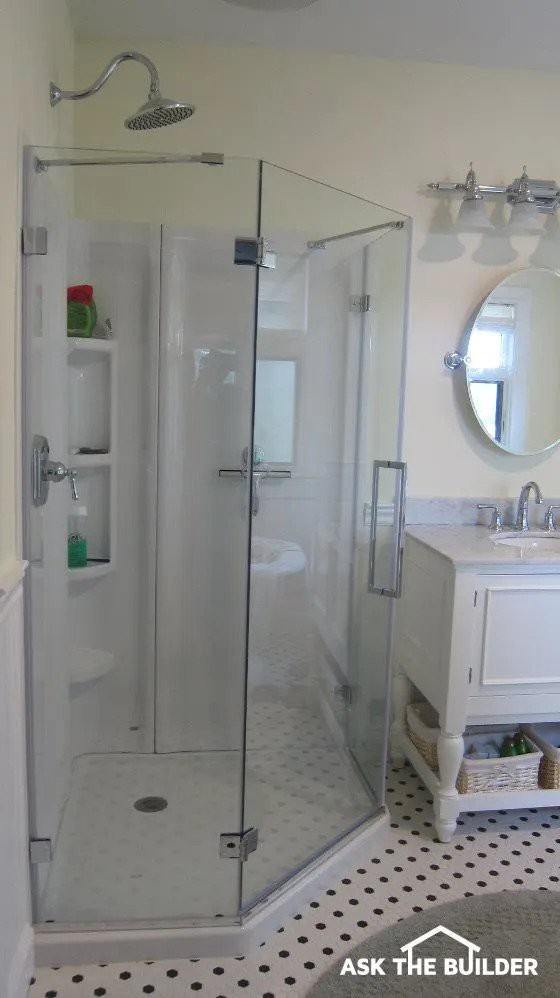 14. DIY Acrylic Shower Walls