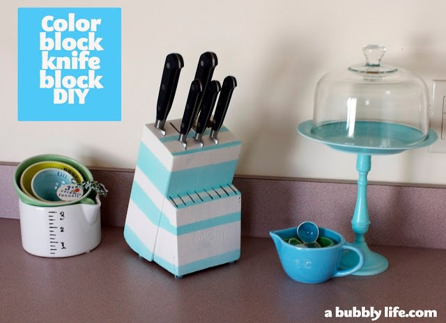 14. DIY Color Knife Block