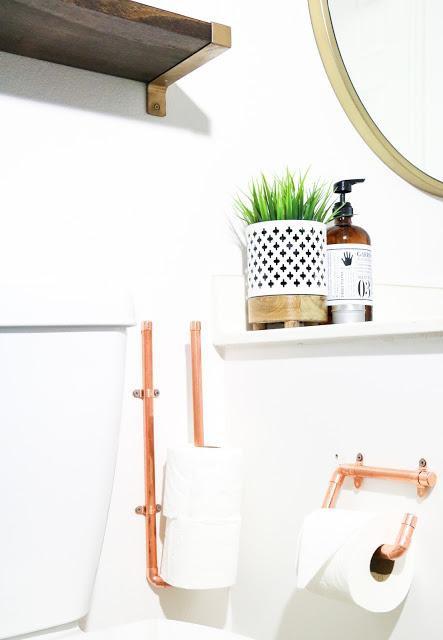 14. DIY Copper Toilet Paper Holder