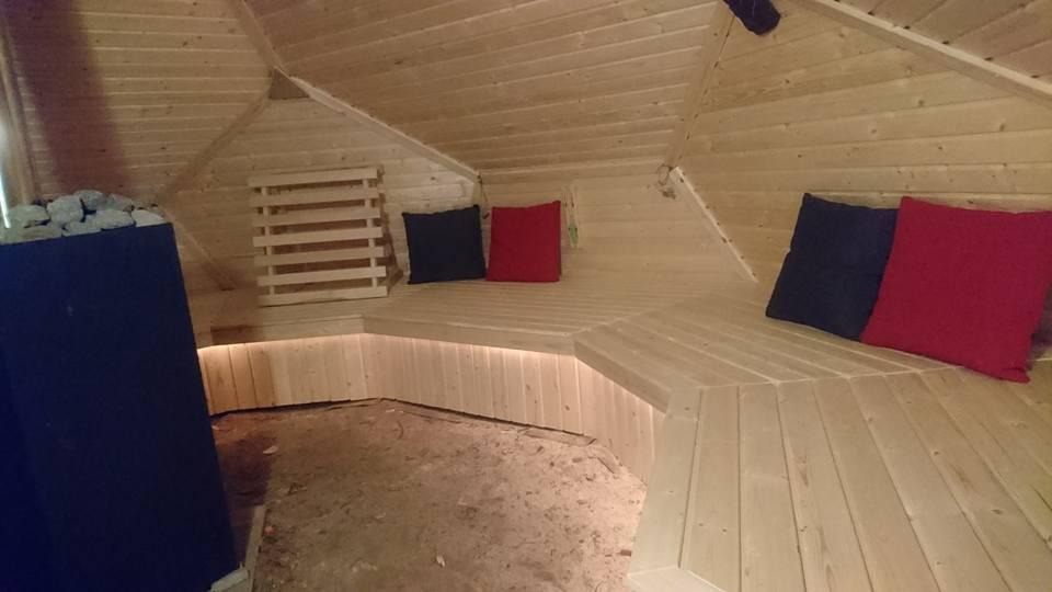 14. DIY Geodesic Dome Sauna