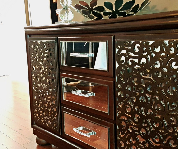 14. DIY Mirrored Sideboard From Dresser