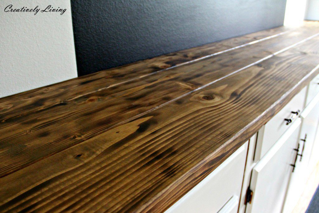 14. DIY Torched Wood Counter Under $50