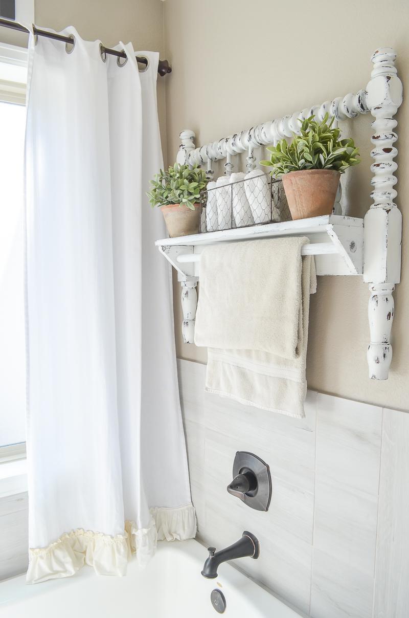 14. DIY Towel Bar Bed Frame