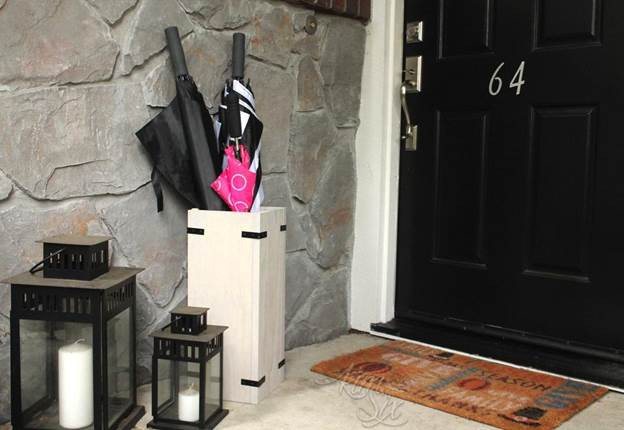 14. DIY Umbrella Stand From One Board