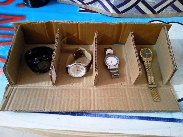 14. DIY Watch Box From Cardboard
