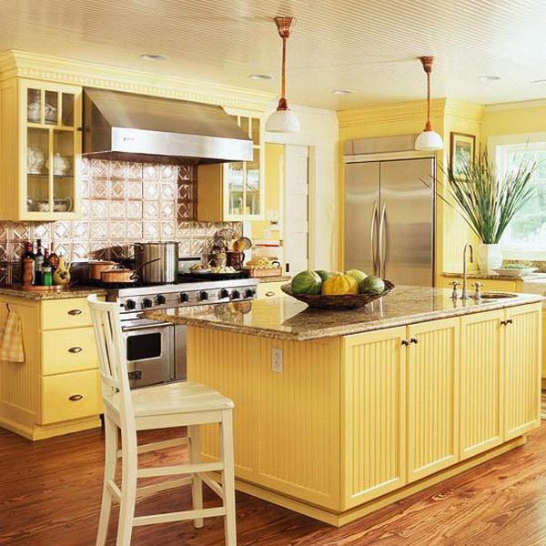 14. Lemon Painted Cabinets