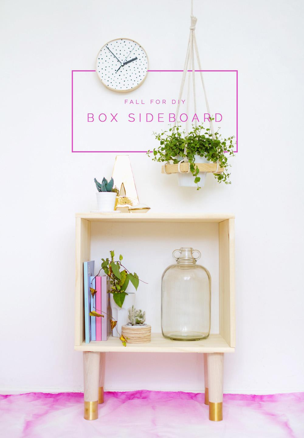 15. DIY Box Sideboard