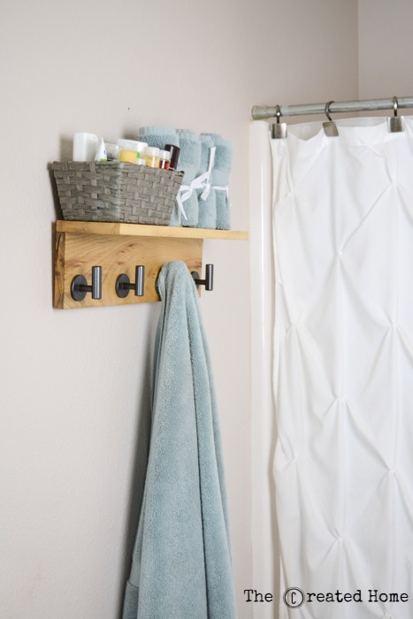 15. DIY Towel Hook Rack