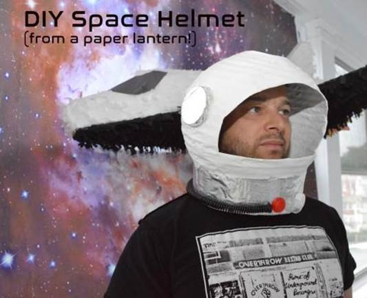 15. How To Make A Space Helmet From A Paper Lantern