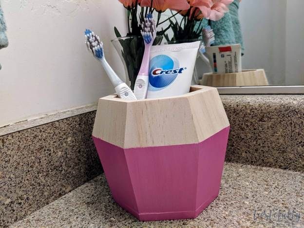 16. DIY Toothbrush And Toothpaste Holder