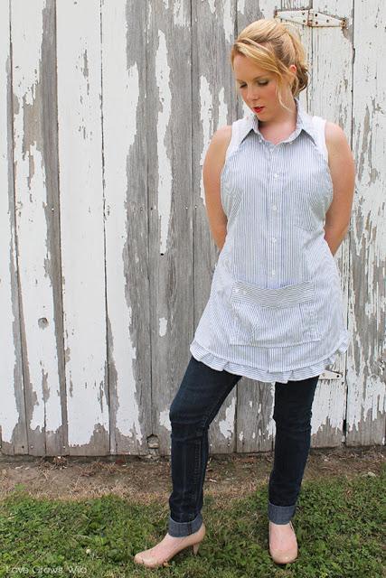 16. Dress Shirt Transformed To Apron