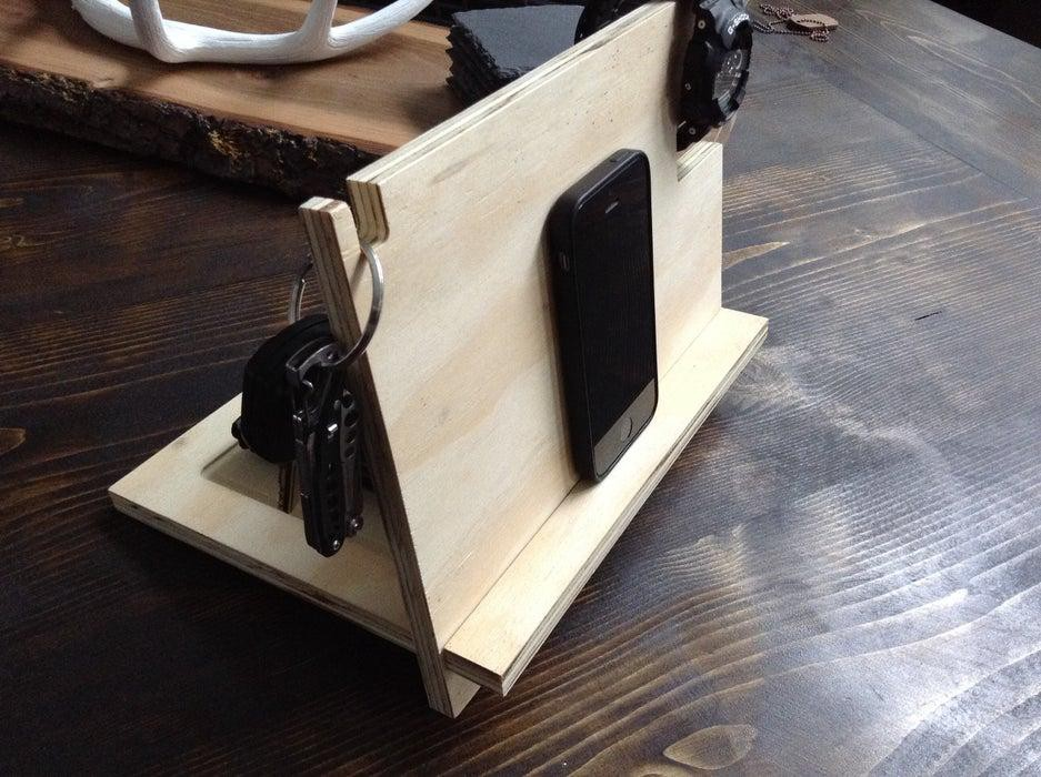 16. Plywood iPhone Stand DIY