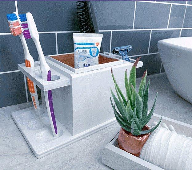 17. Cute DIY Toothbrush Holder_副本