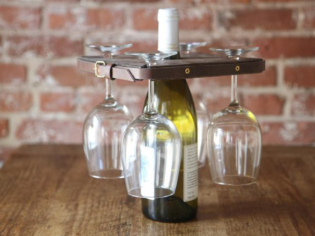 17. Rustic Wine Glass Holder