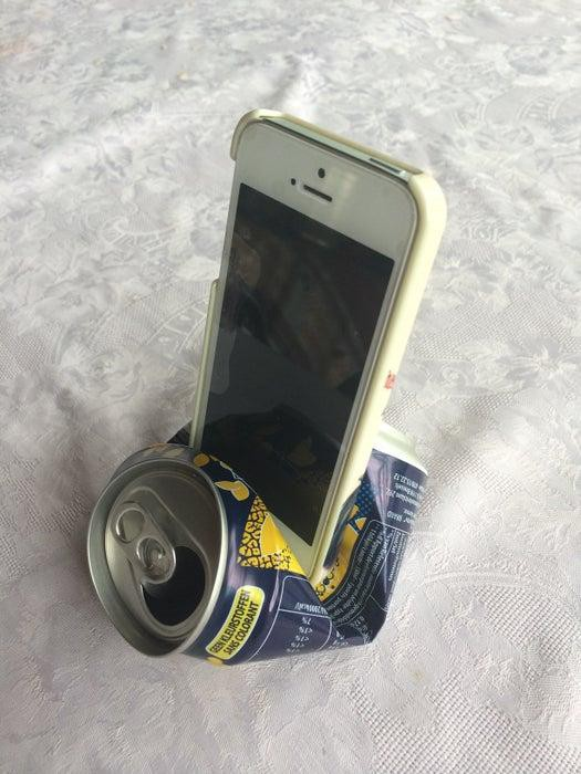 17. Soda Can iPhone Stand DIY