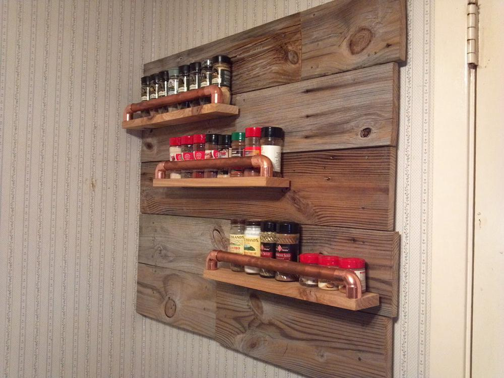 17. Wall Hanging Spice Rack
