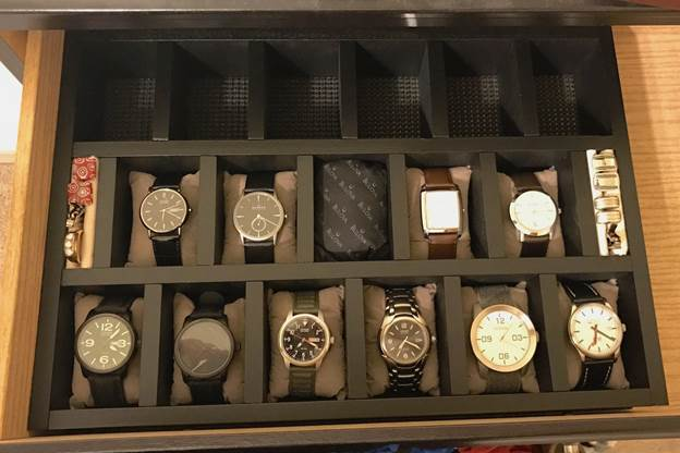 18. DIY Custom Watch Storage Case