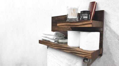 18. DIY Towel Rack