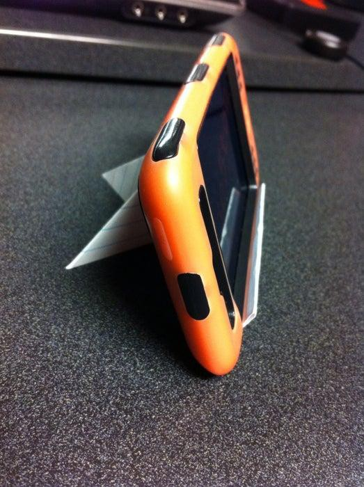 18. Index Card iPhone Stand