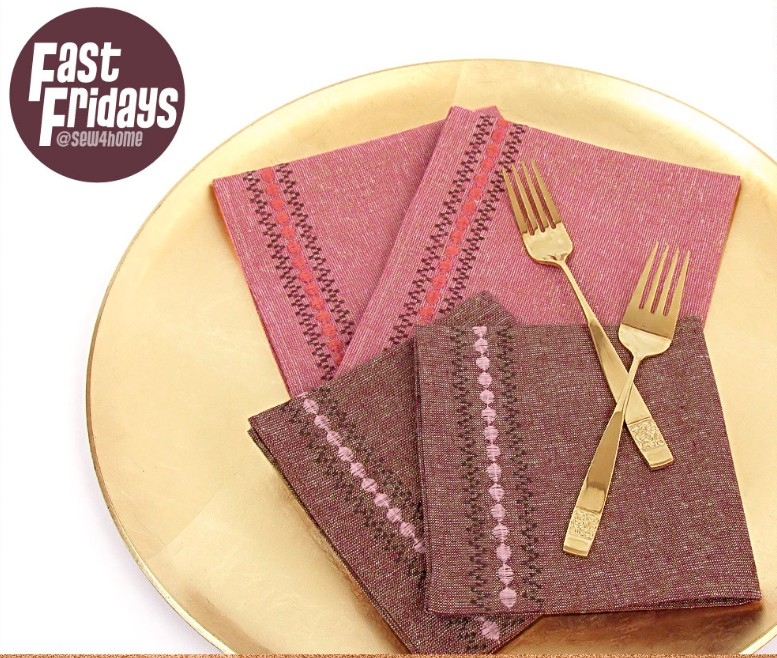 19. DIY Decorative Stitch Border Cloth Napkin