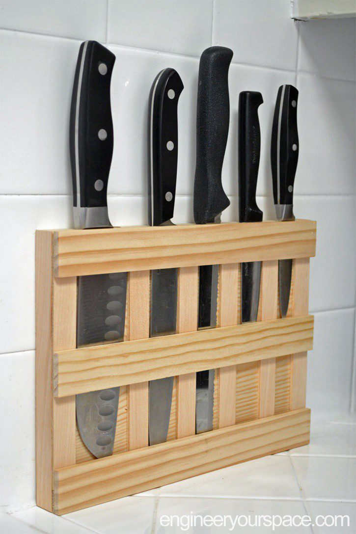 19. DIY Knife Block Idea