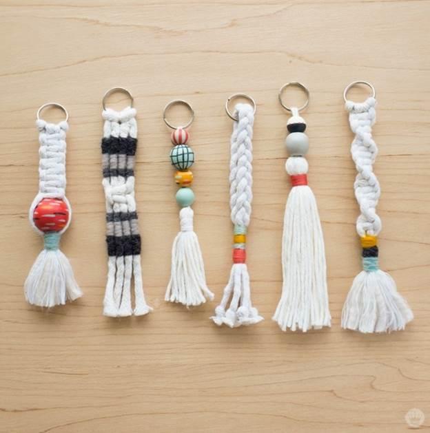19. DIY Macrame Keychain