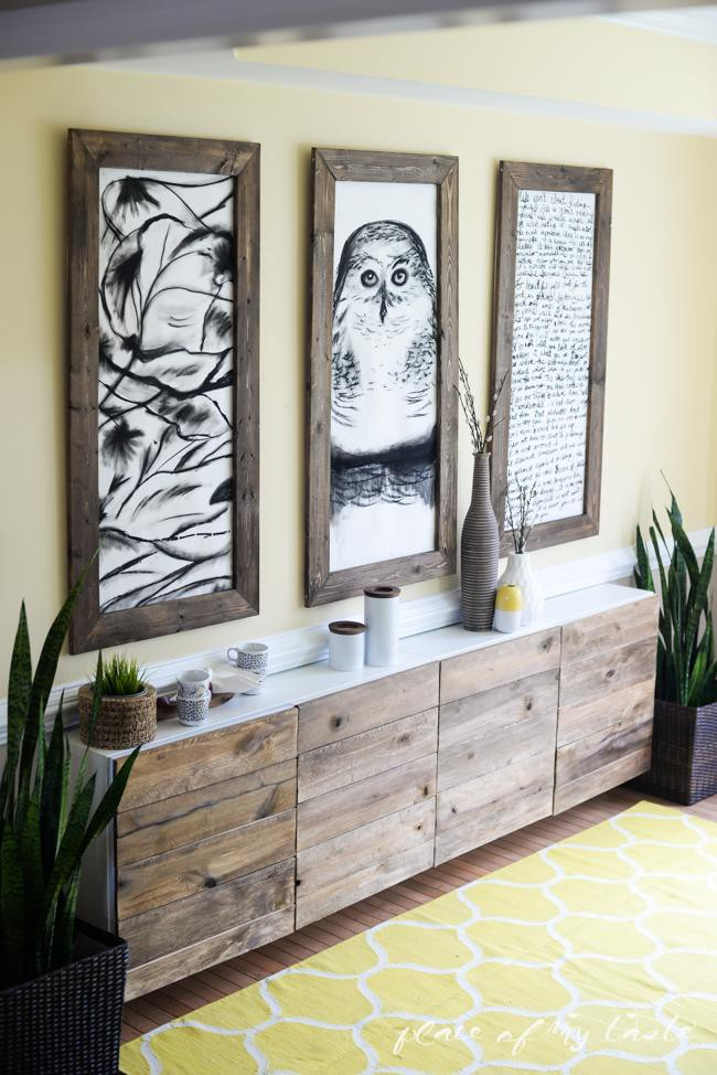 19. Reclaimed Wood Sideboard DIY